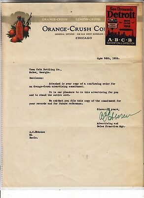 Orange-Crush Company General Offices Chicago  Letterhead Dated  June 26, 1928