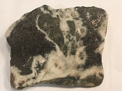 Polished Slab of Native Silver Ore Sample from Deer Trail Mine, Washngton