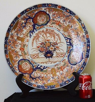 Large Japanese Imari Porcelain Plate Charger