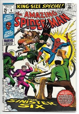 The Amazing Spider-Man King Size Annual # 6 Vf+ Silver Age (1969)