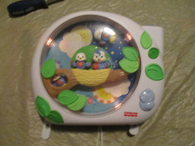 Fisher Price Mattel Flutterbye Dream Bird Crib Baby Projector Music Soother 2004