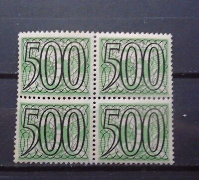1940 Guilloche 500 Cent Vf Mnh Block Of 4 Netherlands Nederland B662.25 0.99