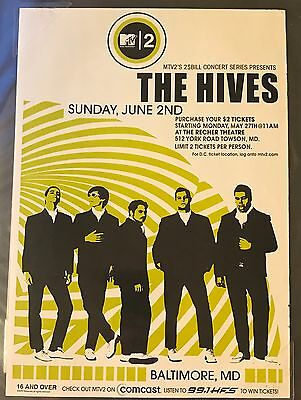 MTV2 2$Bill $2 Concerts THE HIVES & MUSIQ Magazine Pin Up Promo Poster Clipping