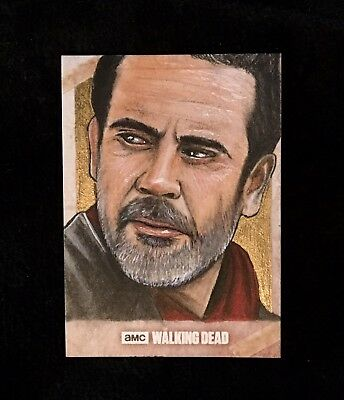 "2017 Topps THE WALKING DEAD S7 AP Sketch Card ""Negan"" by artist M. jilani"