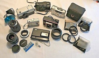 Vintage Camera's and Lensesl Lot of 22 Items