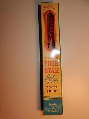 Vintage Nos Tooth Brush Toothbrush 1950S Mint In Box Mib Pink Sparkle Usa