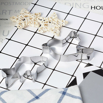 Stainless Steel Biscuit Mold Christmas Cookie Cake Paste Cutter Tools multiple