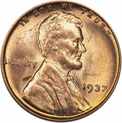 1937 Lincoln Cent - BU - Gem Brilliant Red Uncirculated (2659.q9024)