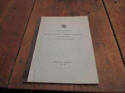 1961 Some Marriages In Montgomery County Kentucky Ky Before 1864 Garrett Ringo