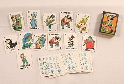 Vintage Pinocchio Game Cards