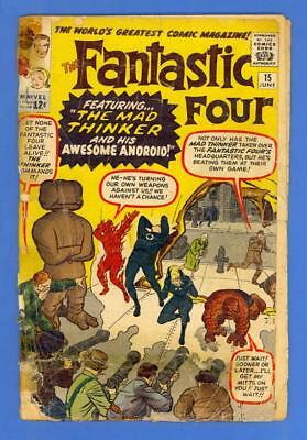 Fantastic Four #15 – Marvel (1963) – 1St Appearance Of The Mad Thinker!