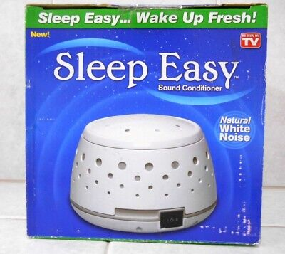 Sleep Easy Sound Conditioner Natural White Noise Machine Baby Therapy New