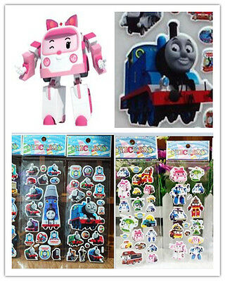 Stickers Lot 3d Wholesale Children paper crafts 6pcs Kids favor Xmas party Gifts