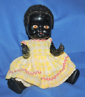 """10"""" Australian & S Africia pedigree black rare thumbs up doll  Rare to find doll"""