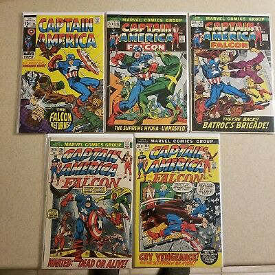 Captain America , Early Bronze Age lot of 5