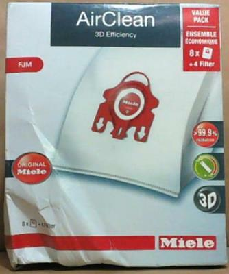 NEW 8pc Miele F / J / M AirClean Dustbag Value Pack Plus 4 filters