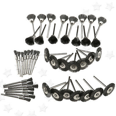 Steel Wire Wheel Pen Cup Brushes Grinding Kit Accessories for  RotaryTool
