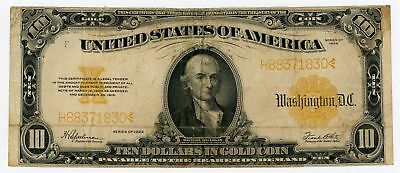 1922 Fr.1173 $10 United States Large Size Gold Certificate - NO RESERVE!