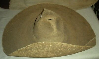 ANTIQUE c.1850 SOUTHWESTERN SOMBRERO BOUGHT FROM NAVAJO MAN IN NEW MEXICO vafo T