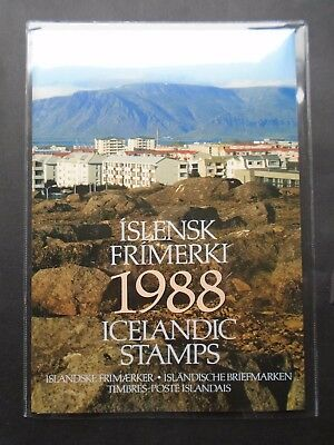 1988 Yearbook Incl All Issues Vf Mnh Dk Iceland Island B662.32 Start 0.99