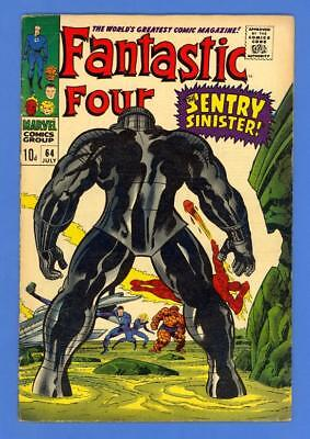 Fantastic Four #64 – Marvel (1967) – 1St Appearance Of Intergalactic Sentry!