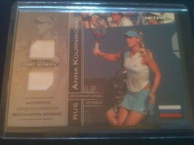 ANNA KOURNIKOVA 2003 NETPRO 2-PIECE MATCH-WORN RELIC CARD #'d 026/500 SICK! HOT!