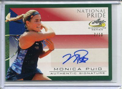 2017 Leaf Signature Series Monica Puig National Pride Green Auto #ed 7/10