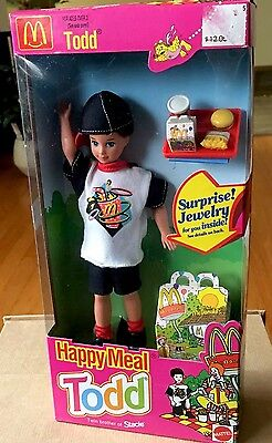 Mattel Happy Meal Todd Barbie Doll-NEW IN BOX 1993.#11475.McDonalds.Jewelry