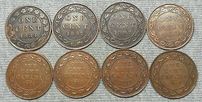 Lot Of 8 Nice Canada Large Cents - 1884, 1897, 1902, Etc.