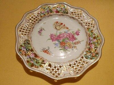 Dresden Hand Painted/lace Design Plate
