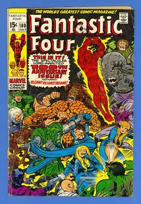Fantastic Four #100 – Marvel Comics (1970) – Thinker & Puppet Master!