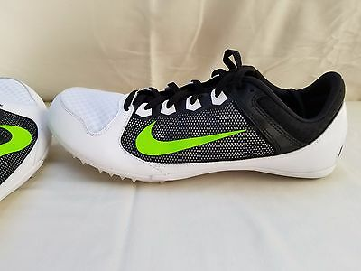 the latest ab17c a74b6 NEW Nike Zoom Rival MD 7 Track Spikes Shoes Black White Green 616312-