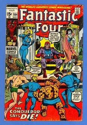 Fantastic Four #104 – Marvel Comics (1970) – Magneto – Sub-Mariner!