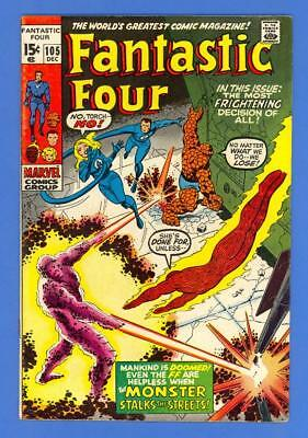Fantastic Four #105 – Marvel Comics (1970) – The Monster!