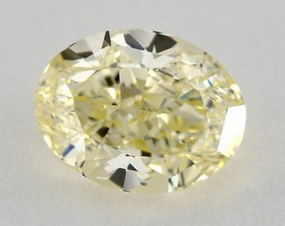 Yellow NATURAL DIAMOND 2 Ct Fancy GIA Certified Nice Color Oval Cut VS1