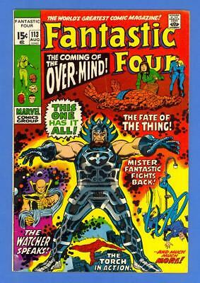 FANTASTIC FOUR #113 – MARVEL COMICS (1971) – 1st APP OF THE OVER-MIND!