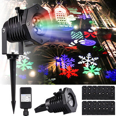 Moving LED Laser Projector Light Landscape Lamp Xmas Outdoor Garden Party Decor