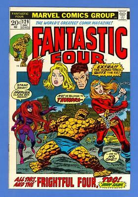 Fantastic Four #129 – Marvel Comics (1972) – 1St Thundra – High Grade!