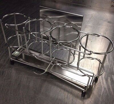 Lot Of 4 - Steel Wire Squeeze Bottle Holder Display Hanging Clip And Drip Tray