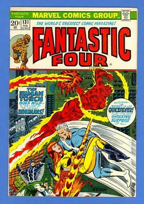 Fantastic Four #131 – Marvel Comics (1973) – Quicksilver – Steranko Cover!