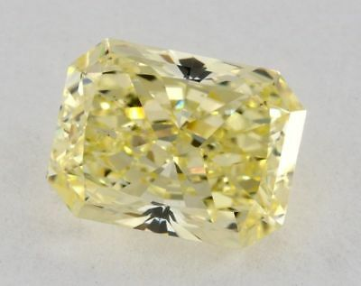 Yellow Fancy Diamond 1.56 Ct GIA Certified Natural Color Radiant Cut VS2 Loose