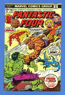 Fantastic Four #166 – Marvel Comics (1976) – Thing Vs. Hulk – High Grade!