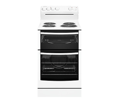 Westinghouse 54cm Upright White Electric Stove with Coil Hob - Model: WLE525WA