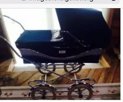 Vintage Italian  Perego  Baby Stroller Carriage-Navy Italy, Buggy DENVER Pickup