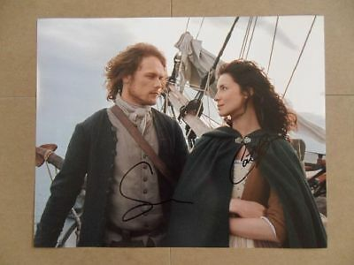 """Caitriona Balfe, Sam Heughan Signed -Autographed Photo """"Dragonfly"""""""