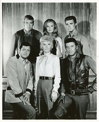 Barbara Stanwyck Peter Breck Linda Evans The Big Valley Cast 1967 Abc Tv Photo