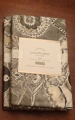 Pottery Barn JACQUELYN Sham, Euro, set of Two New W/ $49.50, Each