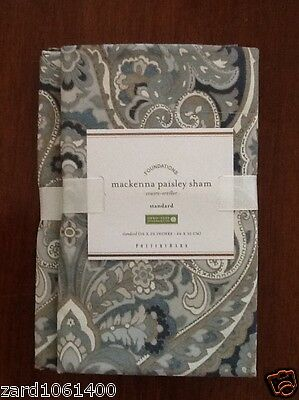 Pottery Barn MACKENNA PAISLEY, Sham, Standard, set of Two New W/ $29.50, Each