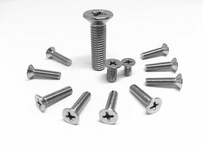 M3 M4 M5 M6  Machine Screw Countersunk Flat Head Phillips A4 316  Marine Grade