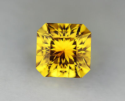 Yellow Sapphire. Lab Grown. Square Portuguese.10mm. 6.60cts